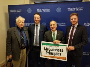 Comptroller DiNapoli  Rolls Out McGuinness Principles in NY
