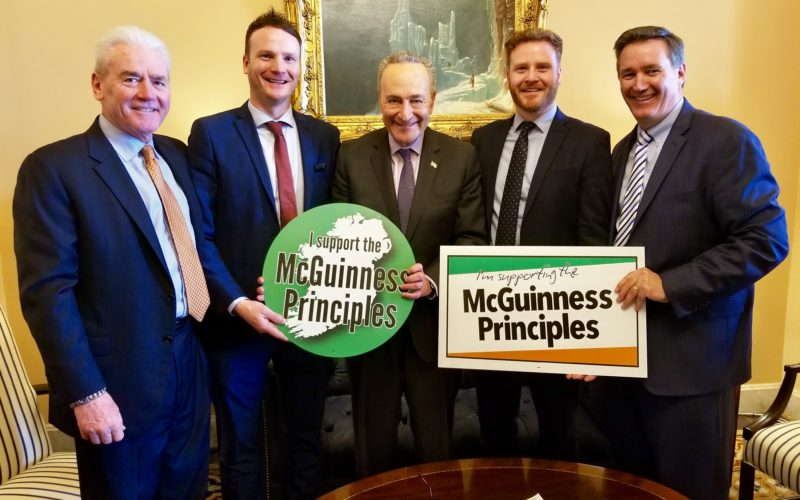 Senate Minority Leader Charles Schumer Endorses McGuinness Principles